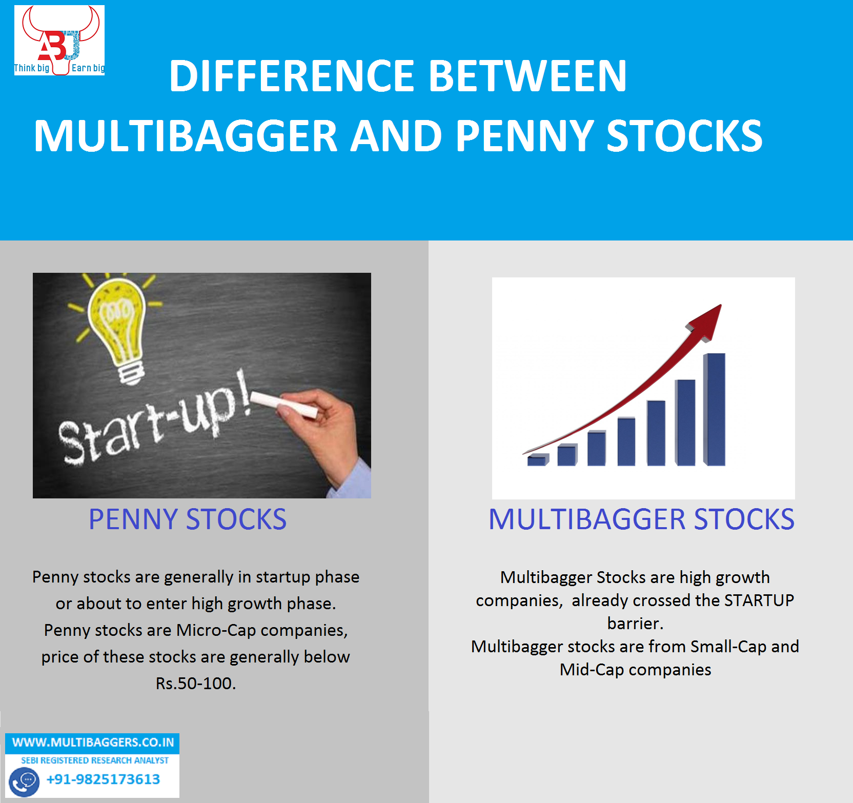 Difference between Multibagger stocks and Penny Stocks???