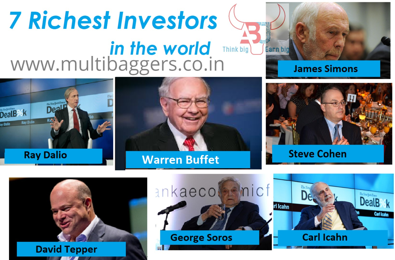 7 Richest Investors in the world and things to learn from them